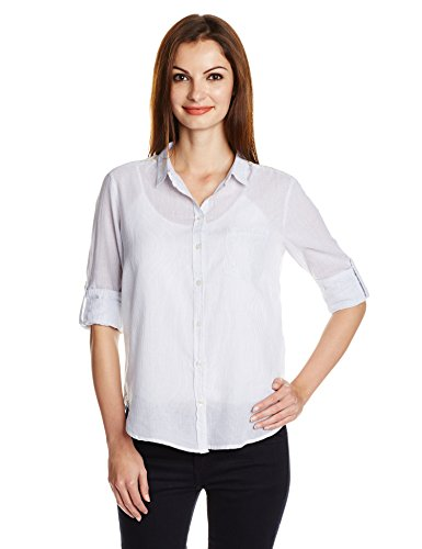 Camisa Only Pearl Listas Blanco