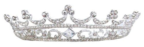 [Simplicity Pageant Queen Tiara Crowns Rhinestones Crystal Bridal Wedding, 1693] (Crowns For Queens)