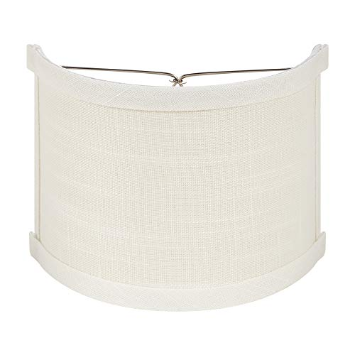 (Upgradelights 6 Inch Clip On Wall Sconce Shield Half Lampshade 6x6x5 (White))
