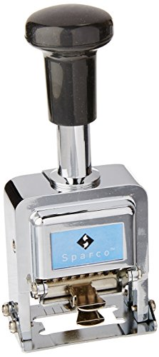 (Sparco Numbering Machine, 6 Wheels, 1/10 x 1-Inch Impression, CE/BK (SPR80067))