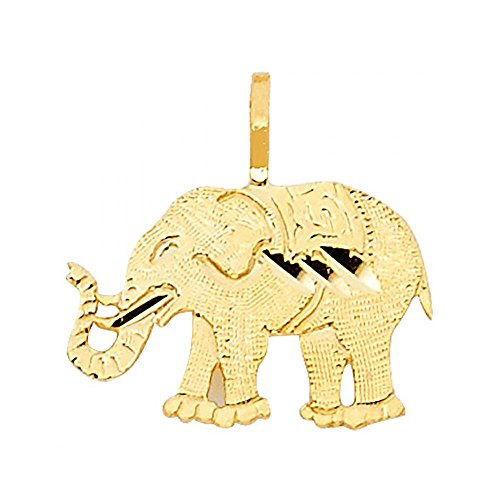 American Set Co. 14k Yellow Gold Elephant Pendant Charm ()