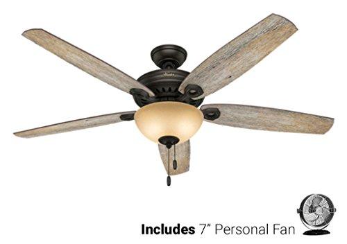 Biscayne Ceiling Light (Hunter Ceiling Fan Brown 54062 Valerian 60
