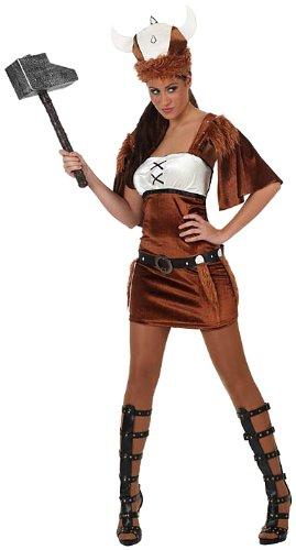 Atosa - Disfraz de vikinga para mujer, talla 38-40 ...