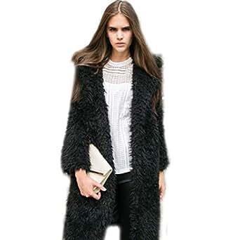 Amazon.com: Kaimu Women Fuzzy Fleece Jacket Open Front