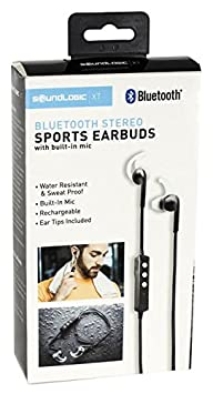 itek by SoundLogic Bluetooth Sports Earbuds with Built in Microphone   Black