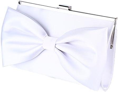 Women Evening Envelope Handbag Party Bridal Clutc Womens Evening Clutch Bag High Grade Silk Bowknot Decorate Elegant Evening Dress Hand Bag