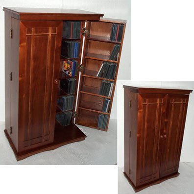 Mission Wood Multimedia Cabinet Walnut