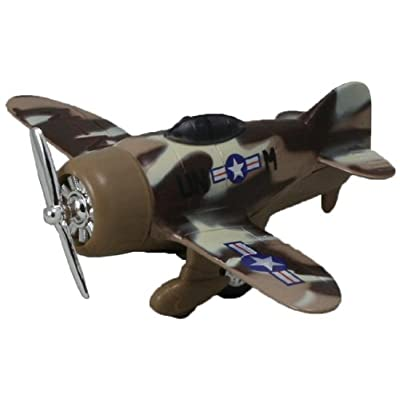 Classic Wing Airplane Pullback - Desert Sand Camo Monoplane: Toys & Games