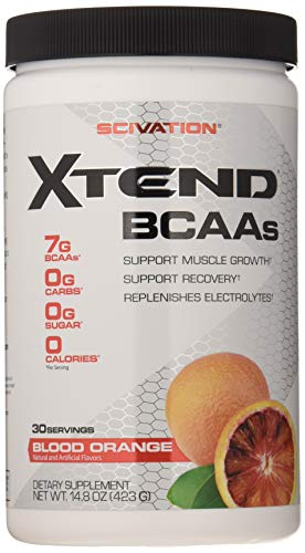Scivation Xtend BCAA Powder, Branched Chain Amino Acids, BCAAs, Blood Orange, 30 Servings