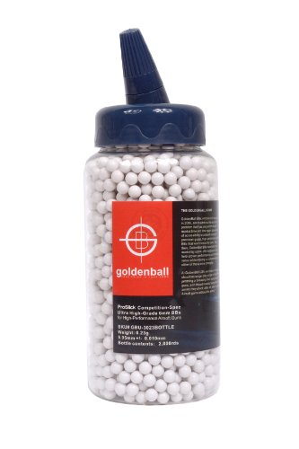 0.23g Goldenball Original Airsoft BBs 2000 Botella redonda 6 mm Sin costura Proslick Mercado interno japonés Rendimiento de grado profesional avanzado Especificación AEG Fabricación importada - BLANCO