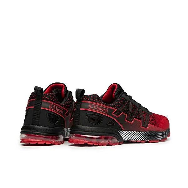 FUSHITON Chaussures de Course Air Coussin Semelle Respirant Confort Sport Athlétique Sneakers Baskets Femmes Hommes