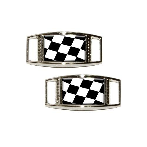 Checkered Flag Shoelace Rectangular Decoration