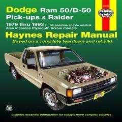 Haynes Dodge D50 Pick-up Raider 79-93 Repair Manual 30045 Shop Service pq Dodge D50 Pickup Truck