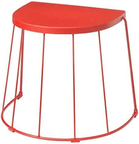 Tranaro Ikea Hocker Beistelltisch In Rot Fur Innen Und Aussen 56x41x43cm Amazon De Kuche Haushalt