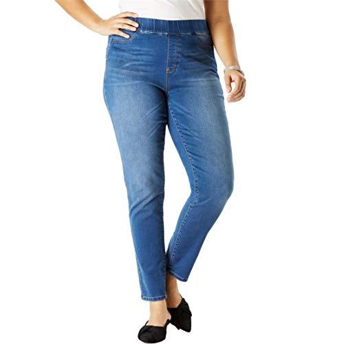 Women's Plus Size The No-Gap Jegging - Medium Stonewash, 16 ()