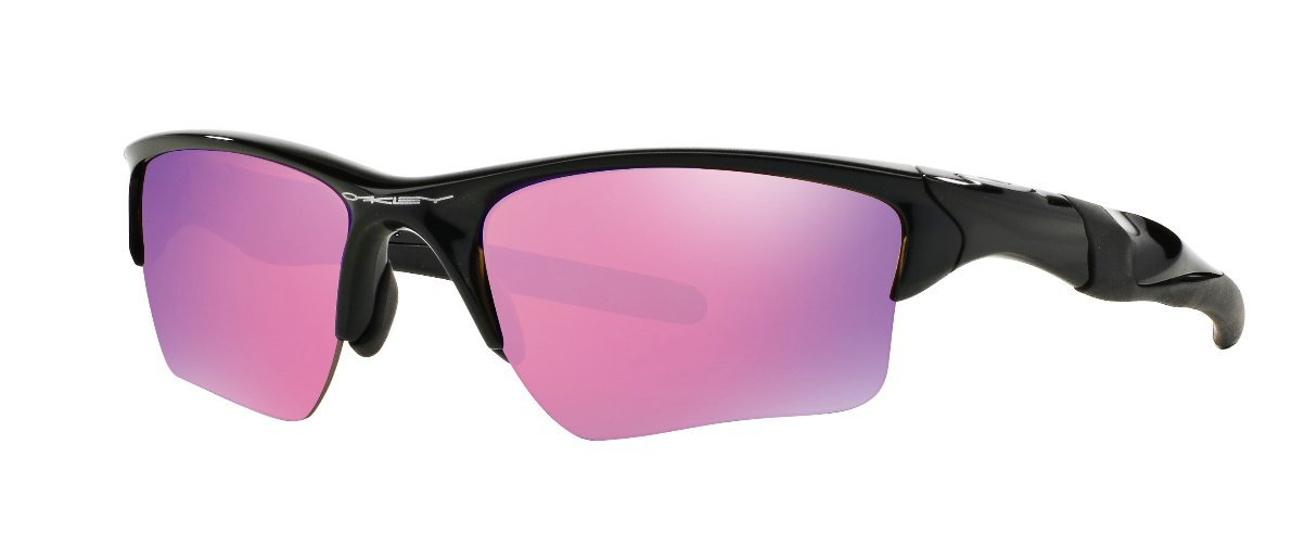 Oakley Men's Half Jacket 2.0 XL Iridium Sport Sunglasses (Black Frame Golf Prizm Lens, Black Frame Golf Prizm Lens)