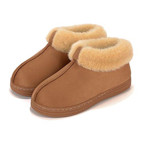 Pantofole 250 Di Laxba Imbottito Scarpe Felpa Caldo All'interno Scivolano Cammello Piedi Pantofola Inverno Cotone Uomini 37 36 Donne 0wHn8qFF