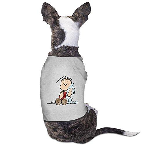[Funny Linus Van Pelt Cartoon Pet Dog T Shirt.] (Charlie Brown Schroeder Costume)