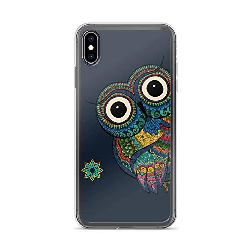 iPhone Xs Max Pure Clear Case Cases Cover Mandala Owl Boho Pattern Art