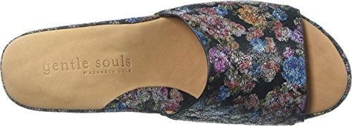 Sandalias Gentle Souls Mujeres Forella Slip Slide Sandal Black / Flower