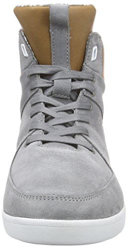 Boxfresh Camberwell Inc SDE/Lea Grif Gry/Tan, Men's Hi-Top Sneakers Grey - Grau (Griffin Grey/Tan)