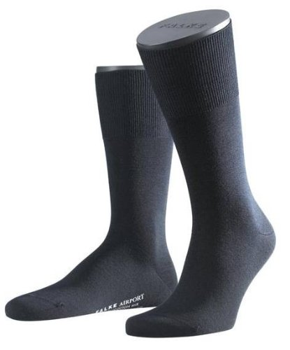 Falke Mens Wool/Cotton Airport Socks - Navy - Extra Small