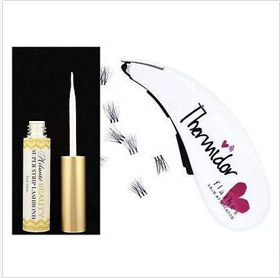Eyelash Stapler with 45 Fake Individual Lash Buds Clusters False Eyelash Applicator Tweezers Dispenser Tool With Latex-Free Lash Glue