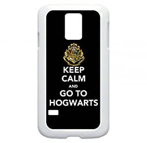Keep Calm And Go To Hogwarts Samsung Galaxy S5 I9600 - Hard white plastic snap on case.