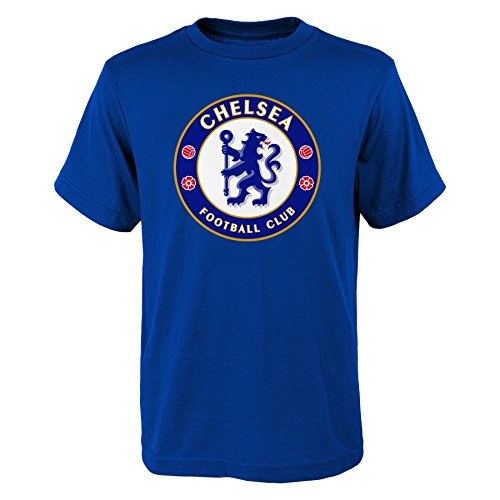(International Soccer Chelsea Youth Boys Team Logo Short Sleeve Tee, M(10-12), Royal)