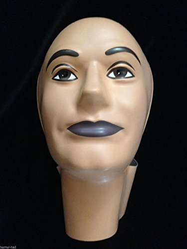 [Prop Building Supplies-MANNEQUIN HEAD FORM FACE COVER-Halloween costume Mask-MAN] (Smiling Man Mask)