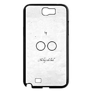 Fashion Style for Samsung Galaxy Note 2 Cell Phone Case Black harry potter dark quote film HOR9378361