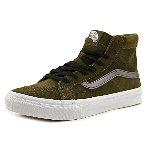 White Vans Leather Slim Tarmac Sk8 Skateboarding True Shoe Cutout High Hi Mesh Top ww1O7rxq