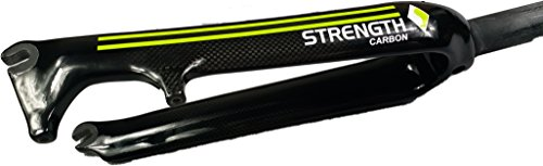 Strength 20 Inch Forks Green Road Bicycle 3K Gloss Carbon Fibre Disc Brake Bike Carbon Fork by Strength