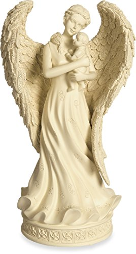 AngelStar Innocence Angel with Baby Keepsake Figurine, 8-Inch, Includes 5 Cubic Inch Space for Keepsakes