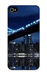 Appearance Snap-on Case Designed For Iphone 5/5s- Blue Landscapes Lights Bridges Urban Buildings City Skyline (best Gifts For Lovers)