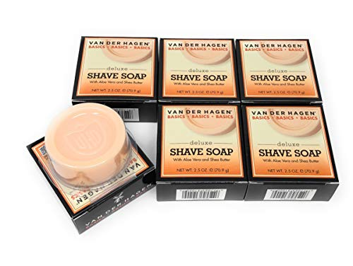 Van Der Hagen Deluxe Shave Soap, 2.5-Ounce Boxes (Pack of 6)