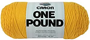 Caron One Pound Yarn, 16 Ounce, Sunflower, Single Ball