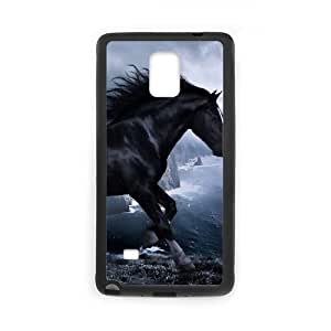 Samsung Galaxy Note 4 Black Cell Phone Case HUBYLW1004 Pferd - Horse Plastic Personalized Phone Case Cover