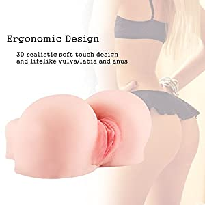 Pussy Ass Masturbator for Male, 3D Realistic Butt Vagina and Anal Stroker for Couples Men Masturbation, Silicone Virgin Anus Love Doll with 2 Hole (5.6 pounds)
