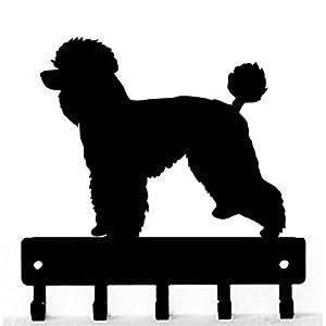 The Metal Peddler Poodle Natural Cut Dog - Key Hooks & Holder - Small 6 inch Wide 6