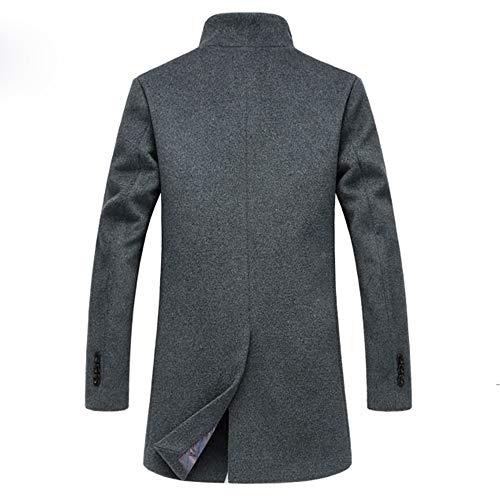 Lana E Shopping Gray Uomo Autunno Lungo In Easy Cotone Da Cappotto Go Inverno 6fw1qU