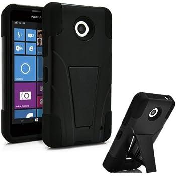 Nokia Lumia 635 Phone Case with Built in Kickstand for Nokia Lumia 635 - Black