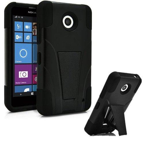 Nokia Lumia 635 Phone Case with Built in Kickstand for Nokia Lumia 635 - Black (Phone Accessories Nokia Lumia 635 compare prices)