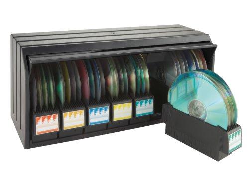 Exponent 14004 cd library ablage stapelbar mit deckel archivierung