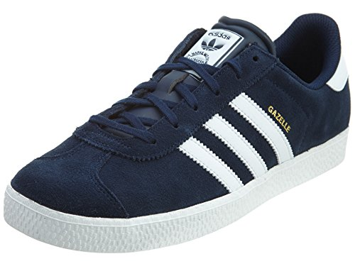 Adidas Youths Gazelle 2 Navy White Suede Trainers 6.5 US - Gazelle Trainers