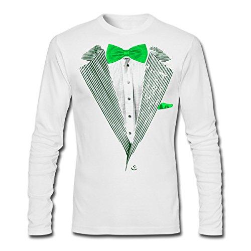 Spreadshirt St Patrick's Day Tuxedo Tux Men's Long Sleeve T-Shirt by Next Level, 2XL, - Day Tuxedo Patricks