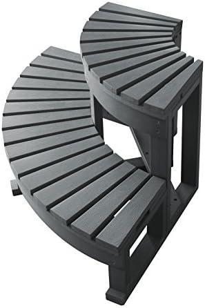 Escalera de esquina 2 peldaños para spa, color gris: Amazon.es: Jardín