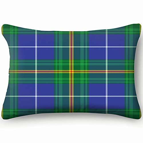 (Nova Scotia Tartan Element Construction Abstract Vintage Home Decor Wedding Gift Engagement Present Housewarming Gift Cushion Cover 20X30 Inch )