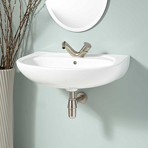 Naiture Corner Wall Mount Sink Without Drain Finish By SH