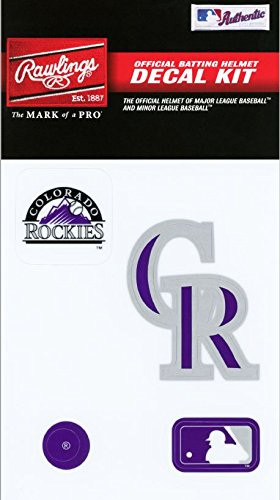 Rawlings Sporting Goods MLBDC Decal Kit, Colorado Rockies